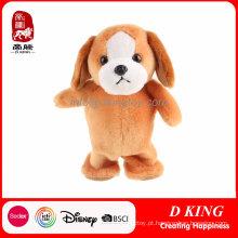 Os brinquedos macios do animal de estimação do cão eletrônico bonito do luxuoso podem personalizado