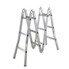 Aluminum 4 folds*2 steps extension ladder