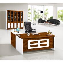 Escritorio de oficina moderno del encargado blanco de alto brillo de madera de lujo moderno