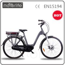 MOTORLIFE / OEM EN15194 HEIßER VERKAUF 36 v 250 watt 700C mid stick elektrofahrrad, 36 v 10,4ah elektrische bike li ionen akku