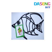 Colorful diy window gel clings for kids