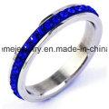 Shineme Schmuck Blaue Steine Edelstahl Finger Ring (CZR2577)