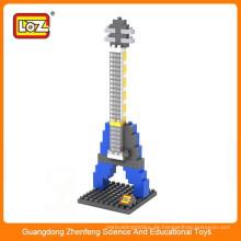 Kinder pädagogische Spielwaren loz Diamantblock diy elektrische Gitarreninstallationssätze
