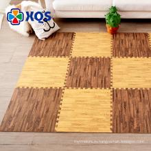 Высокое качество резиновый материал деревянный узор пол коврик bpa бесплатно