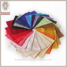 Solid color dyeing custom 100% silk mens pocket squares