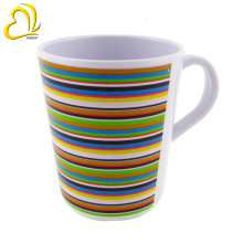 The latest hot style print plastic melamine mug with handle