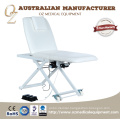White Electric Treatment Table Physical Therapy Couch With Wheel Orthopedic Treatment Table
