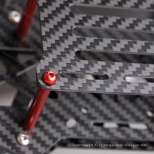 Feuille de fibre de carbone de machine de découpage faite sur commande de 5.0x250x400mm