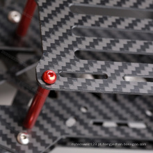 Folha feita sob encomenda da fibra do carbono da máquina de corte de 5.0x250x400mm