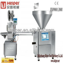 Vacuum sausage filling machine and clipping machine
