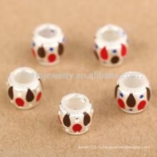Sef074 DIY заключения ювелирных изделий Оптовый браслет 925 стерлинговый серебр новый круглый плавая multicolor шарик