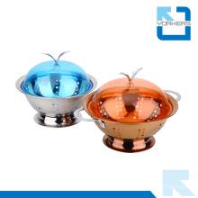 Venda quente de aço inoxidável metal frutas e vegetais titulares cesta de frutas