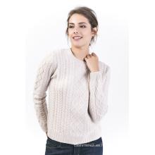 Suéter de cuello redondo para mujer