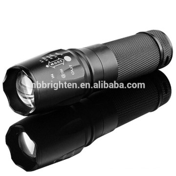 Factory Outlet Outdoor Super Bright 26650 battery or 18650 battery Operated Aluminum Handheld 10w Cree led x800 flashlight