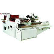 QS380 book riding machine with three knife book trimmer