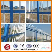 Vedação de alta qualidade da segurança da casa Cerca de aço do zinco / rede da cerca da segurança elevada para o jardim / a cerca de aço do tubo