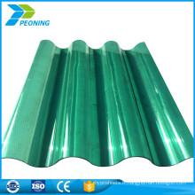 La vente chaude personnalise les tôles en plastique en polycarbonate ondulé teint clair