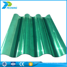 Economic durable coloured clear plastic translucent corrugated roofing sheets