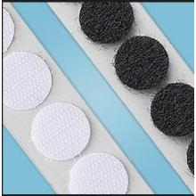 Stitch nylon mixed polyester velcro sided dots