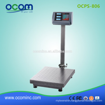 OCPS-806 electronic digital price weighing platform scale with stand up to 1000kg