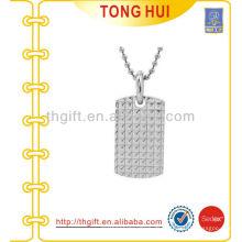 Silber Hochwertige Hundeanhänger Halskette Hersteller Nachahmung Schmuck