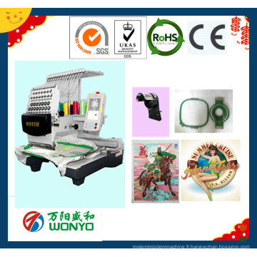 Machine de broderie de bouchon / Machine de broderie de logo / Machine de broderie de chapeau / T-Shirt Machine à broder Wy1501CS