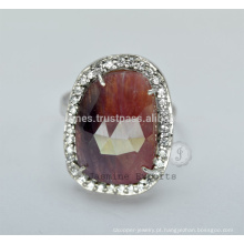Designer Semi Precious Wedding s925 Silver Rings For Wholesale