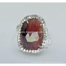 Дизайнер полу драгоценный свадебное 925 серебро кольца для Оптовая