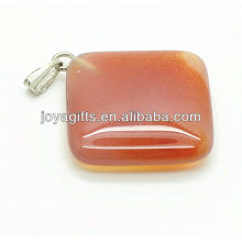 Wholesale natural agate rhombus pendant gemstone pendant