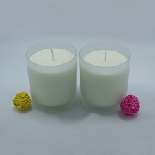 Environmental Aromatheraphy Soy Frosted Glass Jar Candles
