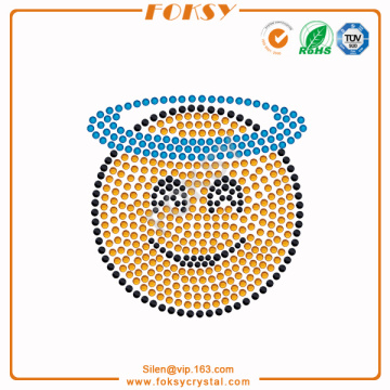 Smiling Face with Halo emoji rhinestone iron