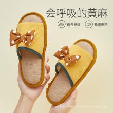 Summer Women Slide Slippers Linen Comfortable