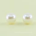En gros rond forme ABS perles perles en plastique blanc lâche abs perles perles avec trou