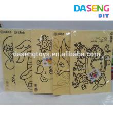Kits de arte de la arena del juguete del dibujo del material de papel para la venta