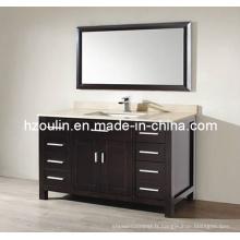Meuble-lavabo de salle de bain en bois Express Marble (BA-1125)