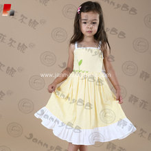 cotton Easter embroidered dresses for babies