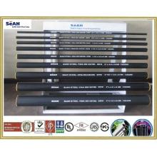 Gerilltes schwarzes Stahlrohr 21mm - 219mm nach AS, BS, JIS, DIN, ASTM, ERW Stahlrohr, geschweißte Stahlrohre, verzinkte Stahlrohre