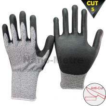 NMSAFETY 13 gauge knife glove cut-resistant fibra de vidro nível 5 luva de corte