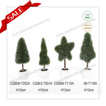 H10-19cm Meilleures ventes en plastique en forme de Topiary Real Touch Artificial Flower