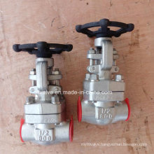 API602 Forged Steel F304L F316L Thread End NPT Gate Valve