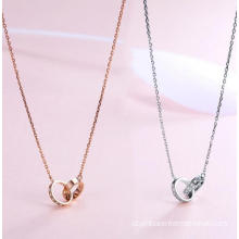 Kalung Loop Tertanam 18K