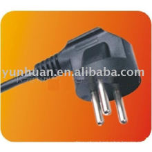 Israel standard plug and cable power cord moulded American European UK type
