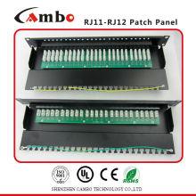 China Fabricante UTP 19 pulgadas 25 puertos rj11 teléfono patch panel