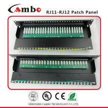 China Manufacturer UTP 19 inch 25 port rj11 telephone patch panel