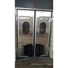 Porta giratória para sala fria