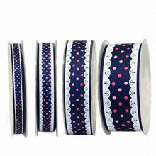 Imitation Lace Edge Dots Ribbon, High Quality, Environment Protecting, Up to 4 Levels, More Designs