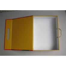 Caja de empaquetado de encargo de la camisa elegante de la moda del diseño con la ventana del PVC