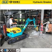 Máquina de concreto do equipamento de construção do sistema hidráulico JSB30 breaker para mini escavadeira