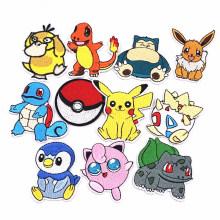 Pokemon Series Squirtle Animal Sewing Stickerei