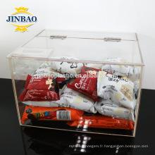 Jinbao boîte acrylique claire 2mm 3mm de stockage taille personnalisée